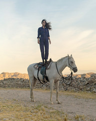 Mattiel & Webster (J Trav) Tags: mattiel burgerrecords whitesoftheireyes california horse webster portrait desert joshuatree standing woman musicvideo