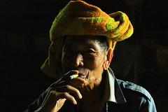 smokin cheroot (hmong135) Tags: thailandandmyanmartrip burmese myanmar palaungtribe hilltribe indigenous kalau