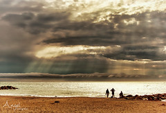 Spectacular, but the most terrible thunderstorm ever came out of it (Wilma van Oorschot) Tags: wilmavanoorschot angelphotography olympusem5 olympusomde5 clouds sunset thunderstorm summer mediterranean france languedocroussillon beach sea sundown outdoor nature