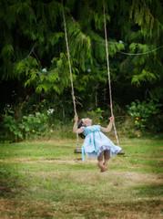 Pure Joy (EdBob) Tags: girl swing dress rope joy happy summer fun lummiisland island washington washingtonstate sanjuanislands blue grass trees forest green edmundlowephotography edmundlowe allmyphotographsare©copyrightedandallrightsreservednoneofthesephotosmaybereproducedandorusedinanyformofpublicationprintortheinternetwithoutmywrittenpermission pacificnorthwest child childhood people one play joyful