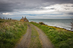 House At The End Of The Lane... (Geraldine Curtis) Tags: northumbrianfarm beach road path lane sea sundog farm northumberland