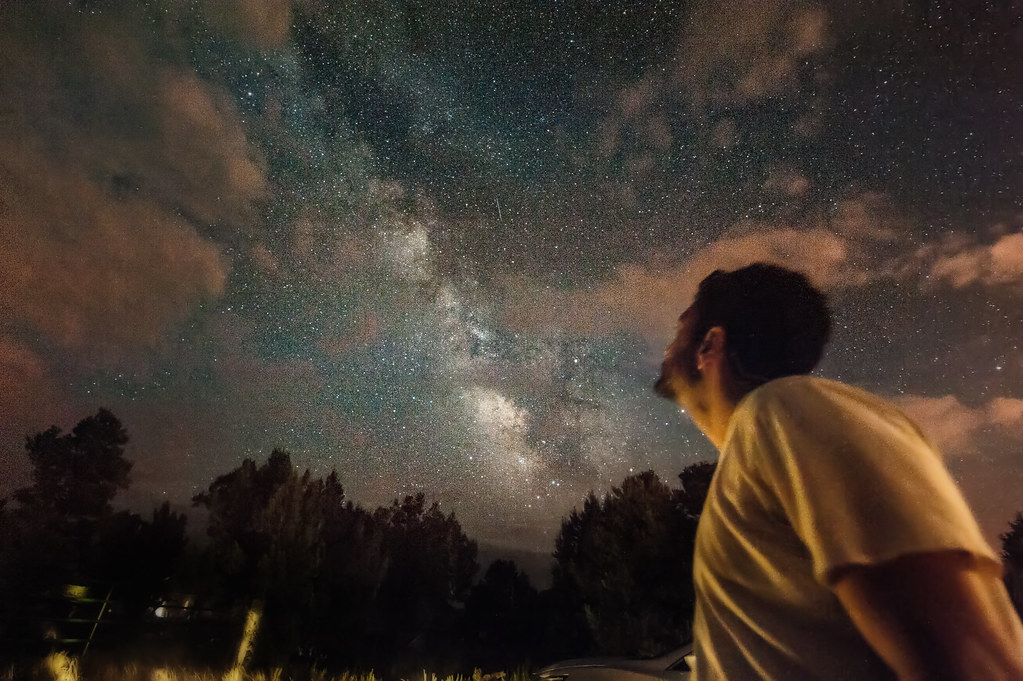 One of many pictures that I can't wait to share from a recent photography trip to Arizona.  This shot of me admiring the Milky Way was taken in Flagstaff.