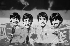 Sgt Pepper's Lonely Hearts Club Band - Mju-ii (iampaulrus) Tags: paulfargher paulfargherphotography analogue analog analoganalogue35mm film filmphotography lomography lomo liverpool beatles art graffiti mjuii olympusmjuii olympus blackandwhite blackwhite monochrome