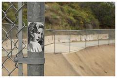 Glendale_0202 (Thomas Willard) Tags: sticker laurenbacall tag california foothills glendale graffiti