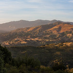 Illuminated hills in Los Padres National Forest thumbnail