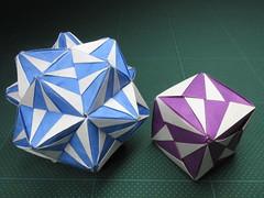 Origami, Sonobe variation (Masaya2012) Tags: sonobe modular くす玉 薗部 ユニット kusudama modularorigami sonobevariation 模様 折り紙