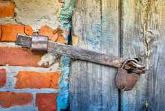 Ancient guard (svklimkin) Tags: bolt lock door guard old ancient guardian antique rusty keyhole padlock closed