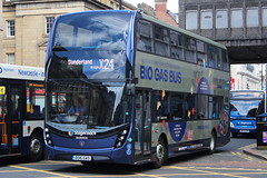 STAGECOACH 80036 DD16GAS IS SEEN LEAVING NEWCASTLE ON 29 JULY 2017 (47413PART2) Tags: dd16gas stagecoach nebuses bus