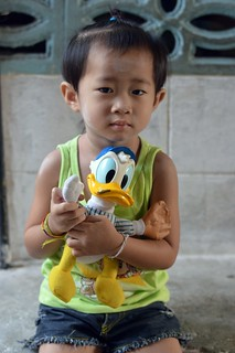 child with donald duck