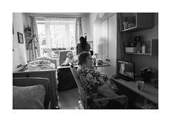 The Room (Jan Dobrovsky) Tags: českákamenice leicaq retirementhome leica monochrome grain dark people room blackandwhite northernbohemia indoor social reallife document