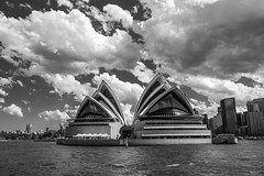 BS4R7662 (Damir Govorcin Photography) Tags: clouds sky water sea harbour sydney opera house architecture buildings canon 1dx perspective creative composition blackwhite natural light