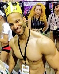 IMG_4413 (danimaniacs) Tags: beard scruff hunk stud shirtless hot sexy man guy costume smile pecs chest cap crown