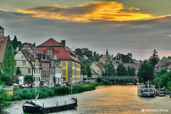 BAMBERG - Sonnenuntergang (GerWi) Tags: sonne sonnenuntergang sunset kanal bamberg klein venedig fz1000 weitwinkel