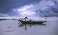 river sky (ferdous_polok) Tags: river sky nature clouds boatman bangladesh