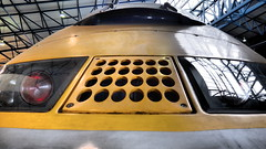Eurostar Power Car 3308 (ManOfYorkshire) Tags: class373 class3732 powercar eurostar set addition nrm nationalrailwaymuseum train trains railway railways collection national freeentry donation free entry sciencemuseum outpost york yorkshire close filter contrast olympus camera