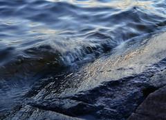 Water on rocks (Villikko) Tags: water rock kivi vesi lake järvi sunset evening ranta kallio nikon nikond5100 d5100