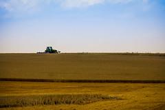 Harvest Time (CoolMcFlash) Tags: tractor harvest field wheat sky landscape nature summer canon eos 60d austria waldviertel loweraustria traktor ernten feld farm weizen himmel landschaft scenics rural sommer niederösterreich österreich fotografie photography tamron b008 18270 horizon horizont negativespace