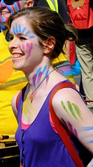 Carnival 2017 057 (byronv2) Tags: peoplewatching candid street performer carnival festivalcarnival edinburghjazzbluesfestival festival festivalcarnival2017 carnival2017 colour colours costume princesstreet newtown edinburgh edimbourg scotland edinburghjazzbluesfestivalcarnival drums drumming drummer music musician smile teeth bodypaint