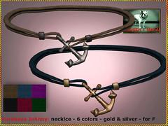 Bliensen - Surabaya Johnny - necklace for women (Plurabelle Laszlo of Bliensen + MaiTai) Tags: necklace choker anchor pirate sailor maritime nautic seafaring sl secondlife vintagejewelry jewelryformen bliensen