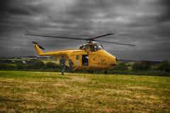 Westland Whirlwind (The Original Happy Snapper) Tags: westlandwhirlwind whirlwind hdr darksky helicopter landing field