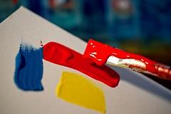 Artist at work (LuziferFA) Tags: macro mondays three paint color picture painting art artist colors farbe malen kunst künstler gemälde