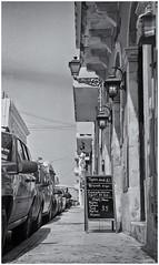 Calle San Sebastian (Black and White Fine Art) Tags: aristaedu400 ansco6x91912 ilexgeneralf75 niksilverefexpro2 lightroom3 foldingcamera
