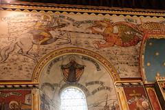 Dragon Slaying (Glass Horse 2017) Tags: nyorks helmsley allsaints church victorian wallpaintings revcgray medievalstyle saint slaying dragon reredos