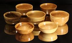 "Seven 6"" bowls (Stephen Mildenhall) Tags: woodturning bowl wood lathe woodbowl woodwork"