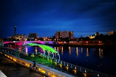 Night Lights (Bella Bugiarda) Tags: tampa downtown river riverwalk city outdoors cityscape night urban