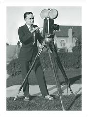 Camera 529 - Hand Wind Movie Camera (Steve Given) Tags: cameraman cine movie camera man 1920s