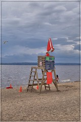 On Guard (Note-ables by Lynn) Tags: shorelines ottawariver clouds stormyskies beach aylmerquebec lifeguards