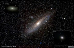 Andromeda Galaxy System (The Dark Side Observatory) Tags: tomwildoner leisurelyscientistcom leisurelyscientist andromedagalaxy m31 m32 m110 galaxy spiralgalaxy ellipticalgalaxy astronomy astrophotography astronomer science space deepspace deepsky canon canon6d mead telescope nightsky night