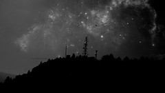 Alien Contact Station (yusuf_alioglu) Tags: aliencontactstation uzaylıtemasistasyonu contact temas station mountain dağ mountains space outerspace uzay gökyüzü sky stars planet earth planetearth spaceage spacetravel spacetraveler traveler travel uzayseyahati cosmos evren universe bw blackandwhite photo photography photographer photoart photoseries colors astronomi astronomy astrophotography unbornart yusufalioğlu yusufalioglu yusufaliogluphotography dreamfactory dream mydream panasonicpaasonicdmcls80 lumix photomanipulation fotoğrafmanipülasyonu digital picasa3 flickr ağaçlar trees landscape view tokat turkey