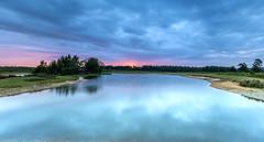 Momentary Sunrise (nicklucas2) Tags: newforest slufters sunrise pond tree water reflection cloud landscape