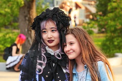 Picture from the fest (Aram Bagdasaryan) Tags: people groupportrait facesofportraits joy japan cosplay young lolita fest