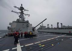 170716-N-BY095-0027 (SurfaceWarriors) Tags: ussshoup ddg86 replenishmentatsea destroyer arleighburkeclass deployment carrierstrikegroup11 desron9 malabar2017 insjyoti bayofbengal
