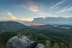 Solitude (derliebewolf) Tags: irix sunset nature landscape clouds storm stromy mountains hiking forest summer sky bluehour goldenhour flare hdr nikon d600 solitude