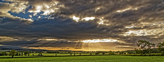 Strathmore valley. (alan.irons) Tags: strathmore valley glamis sunrays sunlight clouds fields scotland angus landscape scottish ecosse eos1dxmk2 canon wideangle crop farmland morning