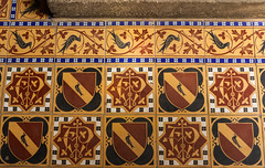 Pugin's Tiles (Lawrence OP) Tags: staugustines ramsgate pugin heraldry martlet coatofarms monogram minton encaustic tiles