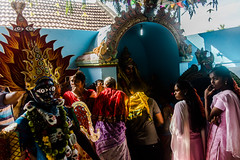 Backstage series   Mayana Kollai,Bhuvanagiri,Chidambaram. (Vijayaraj PS) Tags: red india asia nikond3200 streetphotography indianstreetphotography street indianculture tamilnadu angalamman mayanakollai light shadows tradition makeover backstage village eyes people blue yellow