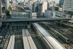 station from above (kasa51) Tags: cityscape station railway shinjuku tokyo japan train