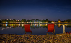 Magical Nights on Ada Lake (Predrag Drobac) Tags: belgrade serbia beograd srbija ada lake jezero sava night nights beach reflection water nikonflickrtrophy