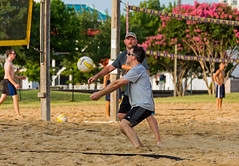 2017-07-17 BBV Men's Doubles (11) (cmfgu) Tags: craigfildespixelscom craigfildesfineartamericacom baltimore beach volleyball bbv md maryland innerharbor rashfield sand sports court net ball outdoor league athlete athletics sweat tan game match people play player doubles twos 2s men