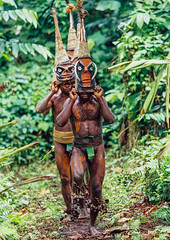 Tribesmen dancing in the jungle with helmet masks for a circumcision ceremony, Malampa Province, Malekula Island, Vanuatu (Eric Lafforgue) Tags: adultsonly celebration ceremony circumcision culture custom dance dancing ethnic feet forest grade ground groupofpeople helmetmask indigenous island jungle kastom makeup malakula malampaprovince malekula mask masks melanesia men nambas newhebrides nivanuatu oceania onlymen outdoors pacificocean pandanus pigtusk shirtless tourism tradition traditionalclothing traveldestination tribal tribe tribesmen vanuatu vegetation hassvanuatu004 malekulaisland