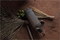 stilllife, sagai (nevil zaveri (thank you for 15 million+ views)) Tags: zaveri tribe tribal home stilllife mango bottle interior vasava bhil india photography photographer images photos blog stockimages photograph photographs gujrat gujarat nevil village rural shoolpaneshwar ws nevilzaveri stock photo sagai broom