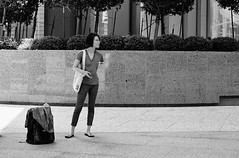 Metro Wait (burnt dirt) Tags: athlete exercise glasses cellphone construction traffic lunch office building worker streetphotography fujiifilm xt1 bw blackandwhite tattoo young model pregnant metro bus busstop train trainstop houston texas downtown city town street sidewalk crosswalk girl woman man people person couple group crowd friend lover friends lovers asian latina cute sexy pretty beautiful gorgeous laugh smile jeans dress skirt shorts yogapants leggings tights stockings longhair shorthair heels stilettos boots shadow reflection sunny blonde sunglasses phone