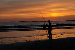 Who cares if they're biting (Matts__Pics) Tags: sunset bassfishing glowing tripod rodholder