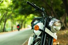 Royal Enfield Classic 350 (Naveen Thomas Prasad) Tags: white royalenfield bike bullet road roadtrip trip trave karnataka biker naveenthomasprasad canon 50mm