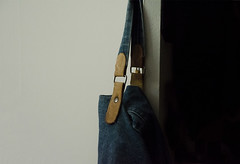 old favorite (dotintime) Tags: old friend favorite bag tote carryall sack ready nearby hanging closet door denim leather empty dotintime meganlane