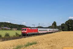 120 103 mit IC 144 nach Bad Bentheim (tsp-Photos) Tags: db fernverkehr 120103 deutsche bahn zug eisenbahn train railroad trein intercity lokomotive locomotive lok laggenbeck
